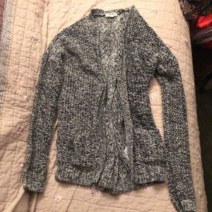 Black and grey knit sweater (Small-x-small)